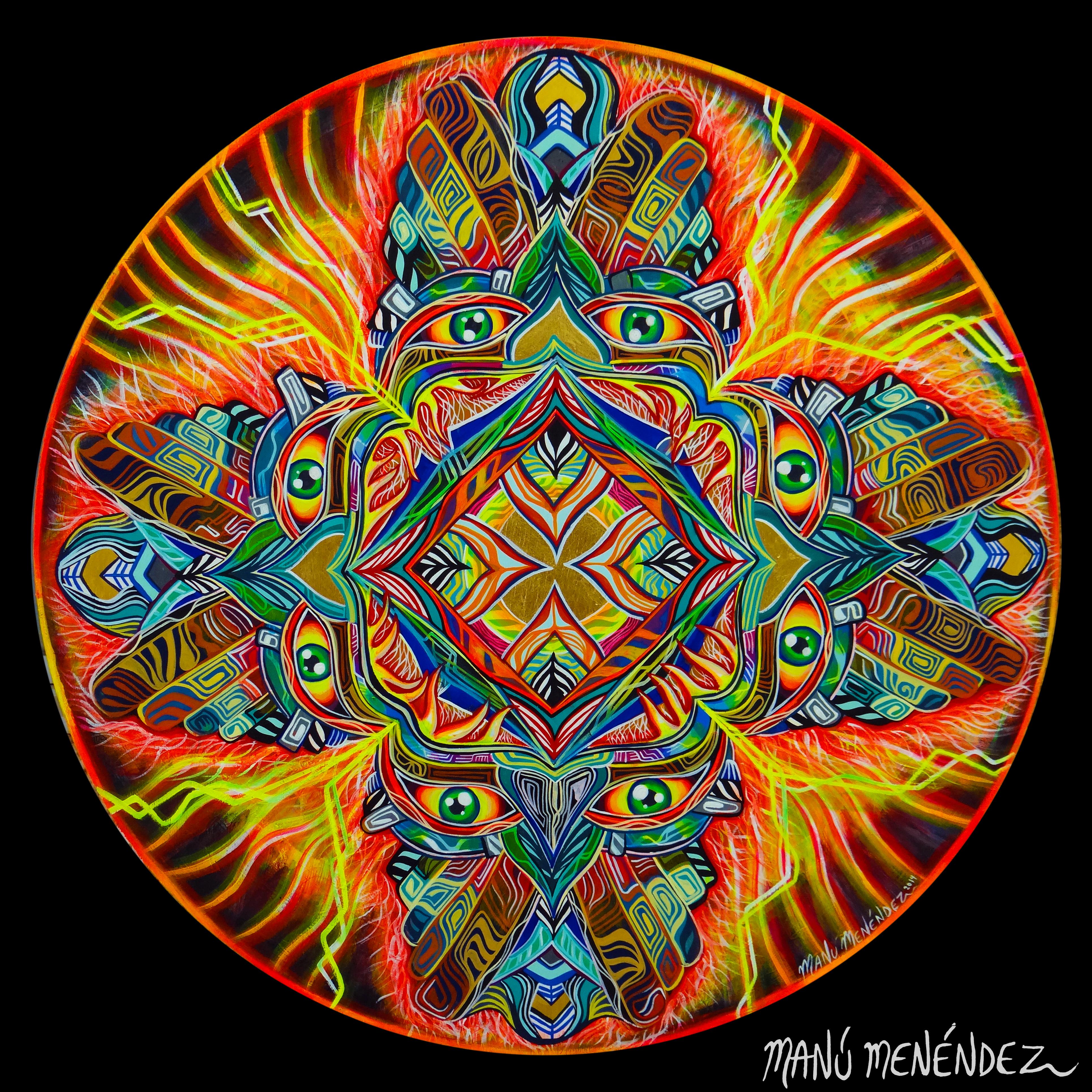 """""""Al tomar consciencia de que el amor incondicional del espíritu creador está dentro de nosotros, nos convertimos en instrumentos-puentes-canales de información por donde la vida y sus bendiciones se expanden con pinceladas, resonancias, estrellas, danzas, latidos, miradas, galaxias, imágenes, abrazos … Son los encuentros santos y las experiencias maestras donde la creación y lo creado se tornan uno. Todo cuanto sucede en los ojos del que ha despertado a la vida es Sagrado."""" -M.M.-"""