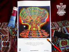 """Árbol de la Vida"" Poster con firma de autor/ Poster signed by author Simulación de Canvas/Simulation Canvas 44 x 29 cm"