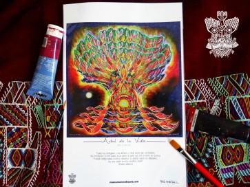 """""""Árbol de la Vida"""" Poster con firma de autor/ Poster signed by author Simulación de Canvas/Simulation Canvas 44 x 29 cm"""