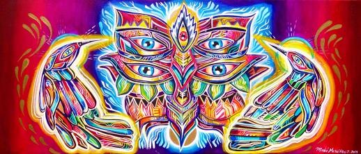 Ometeotl Acrylic on canvas 30 x 50 cm 2014