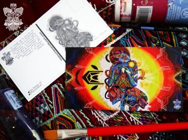 """Iluminación"" Postal/ Postcard 10 x 18 cm"