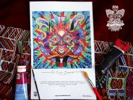"""""""Círculo Sagrado"""" Poster con firma de autor/ Poster signed by author Simulación de Canvas/Simulation Canvas 44 x 29 cm"""