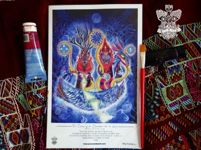 """""""El Cisne y el Sendero de la Luz"""" Poster con firma de autor/ Poster signed by author Simulación de Canvas/Simulation Canvas 44 x 29 cm"""