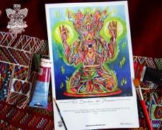 """""""El Sendero del Dhamma"""" Poster con firma de autor/ Poster signed by author Simulación de Canvas/Simulation Canvas 44 x 29 cm"""