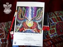"""""""Espíritus del Sol"""" Poster con firma de autor/ Poster signed by author Simulación de Canvas/Simulation Canvas 44 x 29 cm"""