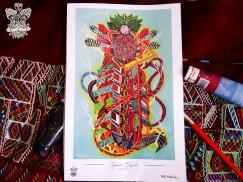 """""""Gran Espíritu"""" Poster con firma de autor/ Poster signed by author Simulación de Canvas/Simulation Canvas 44 x 29 cm"""
